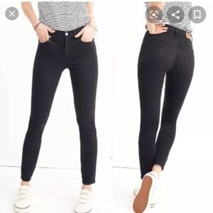 """Madewell 9"""" High Rise Skinny Faded Black Jeans"""